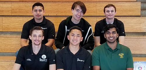 Members of the Cal Poly Pomona cybersecurity team