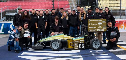 The Cal Poly Pomona Forumula SAE racing team in Michigan.
